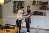 MU 372  Rabbi Laima Barber and Jono David doing tefillin