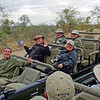 Kyle, one of our rangers at Sabi Sabi with Chris, Helen, Mike & Linda.