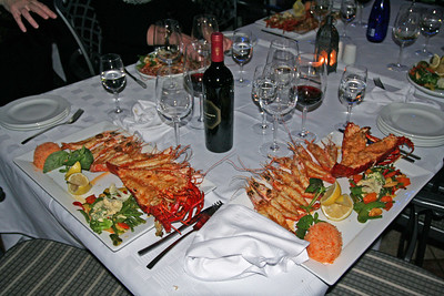 Seafood Platters at Baia Restaurant. VA Waterfront