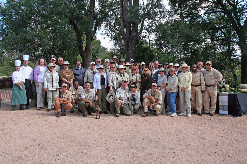 The whole group after the bush breakfast.