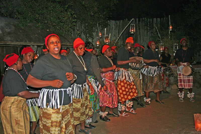The local village dancers