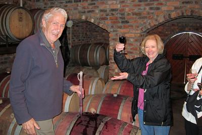 Franschhoek - Wine Tasting straight from the barrel at La Petite Ferme.