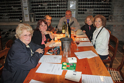 Wine tasting at the Bouchard Finlayson Winery in Hermanus. Peter Finlayson poured the wine for us and then gave us a tour of the winery.