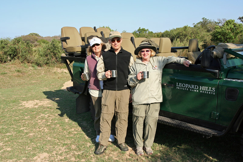 Morning coffee break.  Gail,Eugene and Ngaire