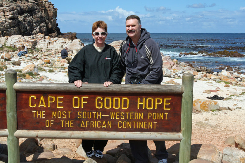 Lori and Richard at Cape of Good Hope