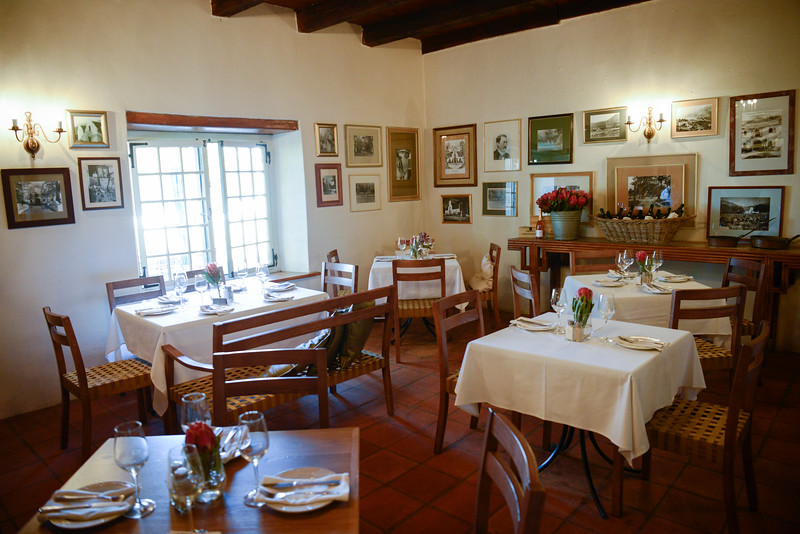 Restaurant at Groot Constantia Winery, founded 1685.