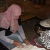 Woman making rumali roti, Judean Desert, Dead Sea Region, Israel