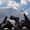 Vertebrae sculpture by Henry Moore at the Israel Museum, Jerusalem, Israel