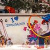 Street art on wall, Jerusalem, Israel