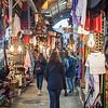 Tourists walking in Arab Market, Old City, Jerusalem, Israel
