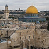 View Western Wall and Dome of The Rock, Old City, Jerusalem, Israel