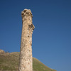 Ruins of column at archaeological site, Bet She'an National Park, Haifa District, Israel