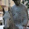 Equestrian statue of Meir Dizengoff, the first mayor of Tel Aviv,  Rothschild Boulevard, Tel Aviv, Israel