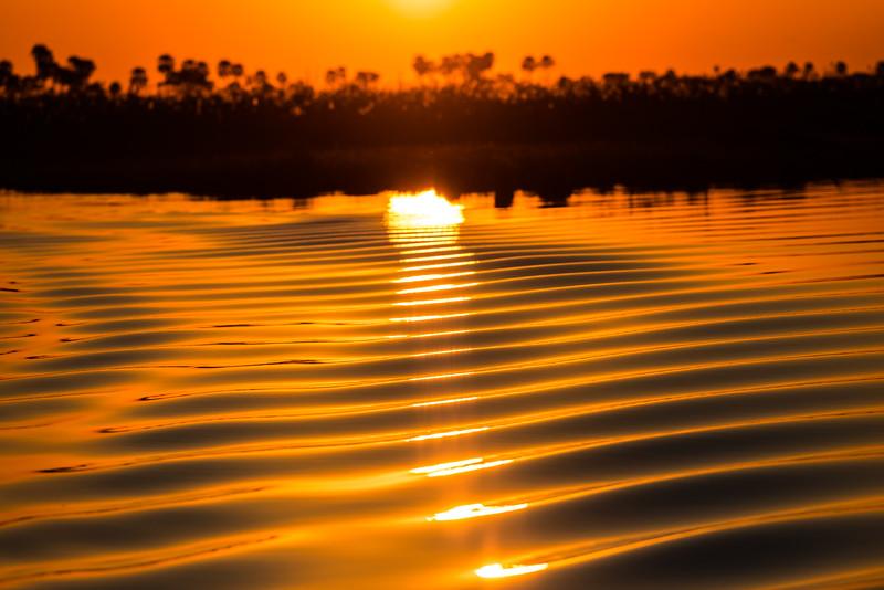 Sunset, Linyante Riber, DumaTao, Botswana