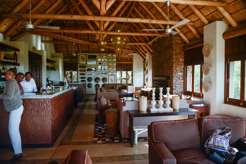 Checking in to Phinda Lodge.