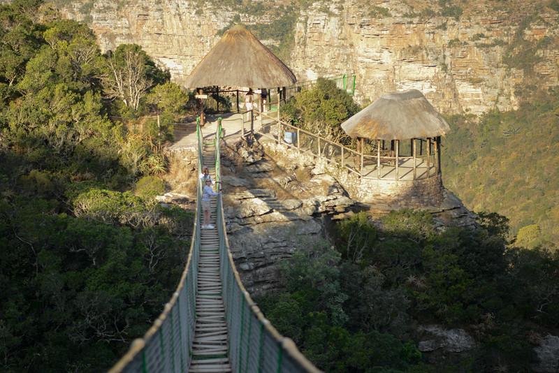 Oribi Gorge suspension bridge.