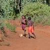 Madagascar, football, enfants, village
