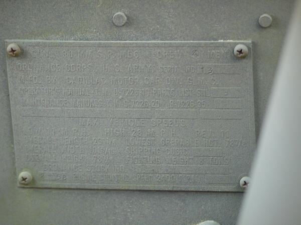 M56 data plate