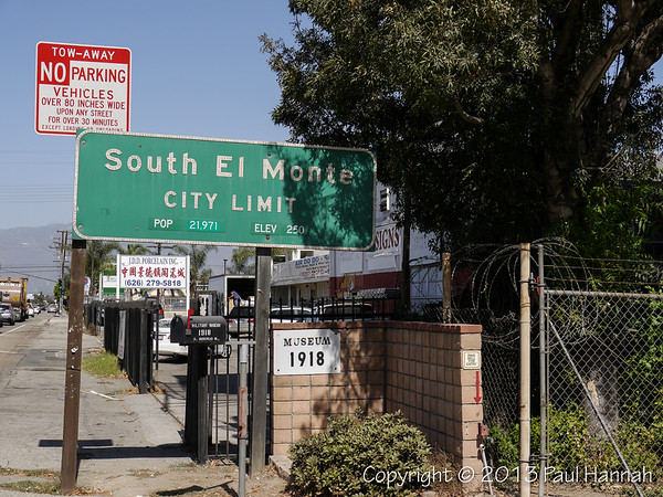 "South El Monte Sign and Entrance to ""Tankland"""