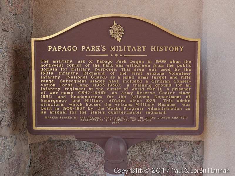 Papago Park's Military History Plaque