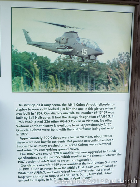 AH-1G Cobra Placard - 1 - P1120036