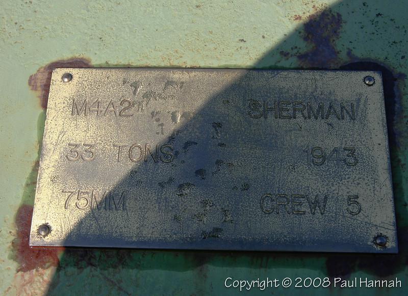 M4A2 placard