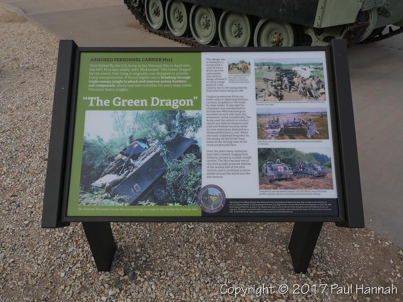M113A2 APC Placard