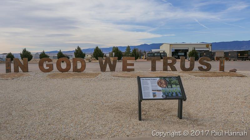 58,000 pennies - representing U.S. losses in Vietnam - adorn the letters