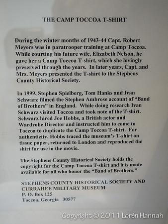 Camp Toccoa T-Shirt info
