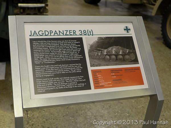 Jagdpanzer 38(t) (Hetzer) Placard