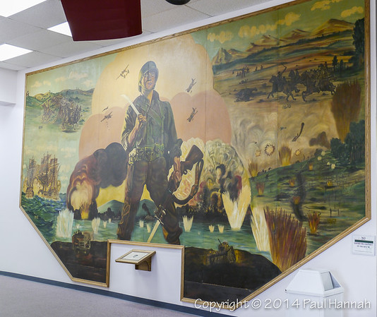 The American Soldier in US History Mural by PFC Charles Rutledge