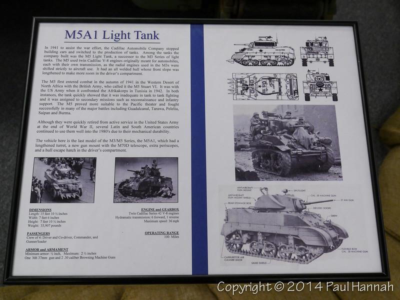 M5A1 Placard