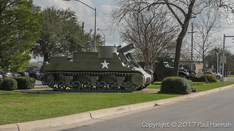 M7 Priest - 3rd Brigade Combat Team Headquarters, 1st Cavalry Division, 62nd St and Battalion Ave