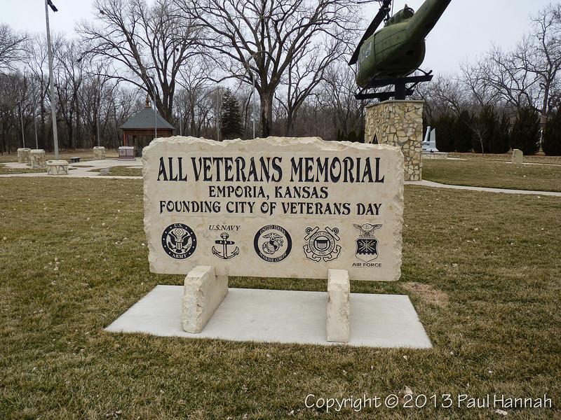 All Veterans Memorial - Emporia, KS - 1 - P1140771