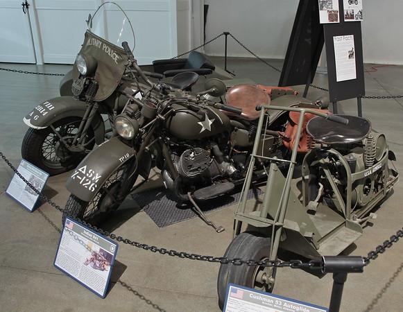 Harley Davidson UA, Indian 841 & Cushman 53 Autoglide