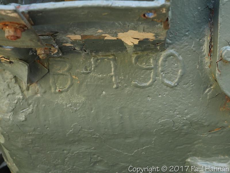 M60A3 SN 2256A, RN JJO49P Hull Weld