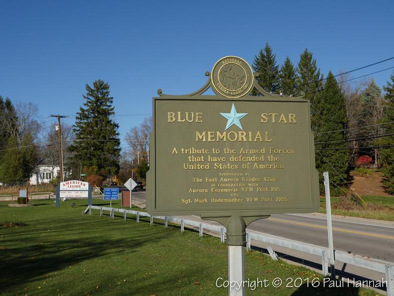 Blue Star Memorial Plaque