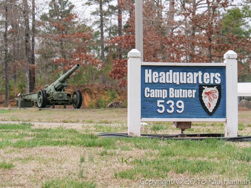 M1918 155mm GPF & Camp Butner HG sign