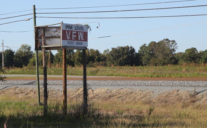 Pine Level, NC VFW Post #9564 sign