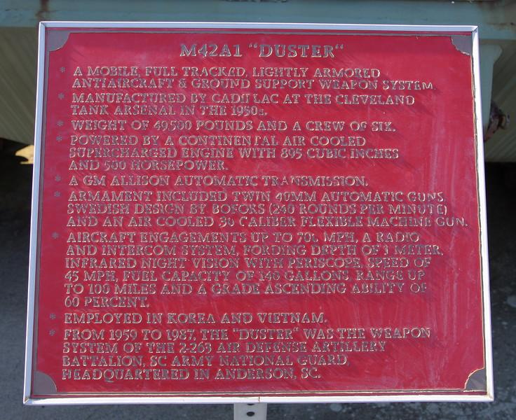 M42 placard