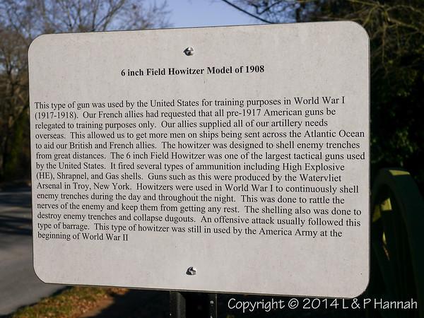 M1908 6-inch Field Howitzer Placard