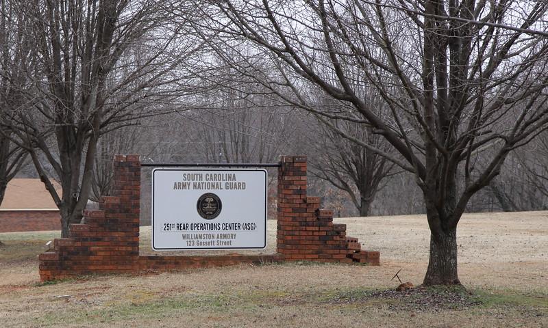 Williamston Armory sign