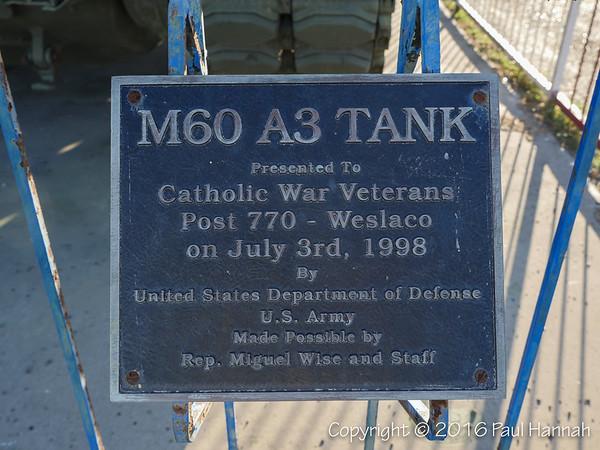 M60A3 Placard