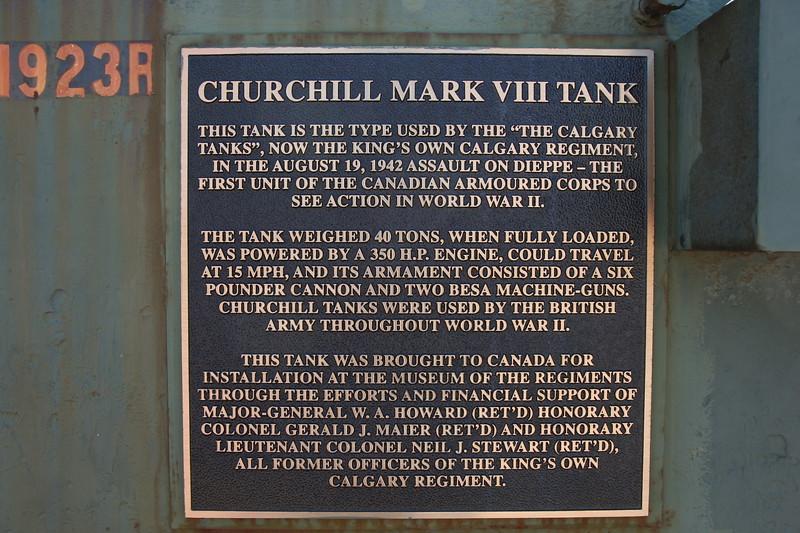 Churchill Mk VIII Crocodile placard