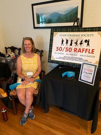 Jennifer Haskill coordinates the 50/50 scholarship raffle.