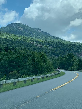 Along the Blue Ridge Parkway to Grandfather Mountain where the highland games are held.