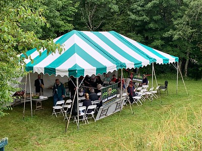 Thursday afternoon's picnic tent.