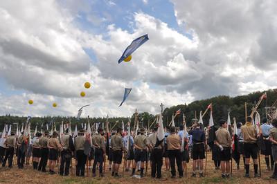 Pendant la cérémonie d'ouverture de l'Eurojam, le 3 août 2014