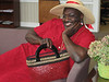 """Nationally the Red Dress is the symbol of On 9/12 the gentleman in whose name we donate the most money will wear the Red Dress to lunch in the hospital cafeteria. Click <a href=""""http://heartwalk.kintera.org/lowcountrysc/jerome"""">here</a> and donate today to make Jerome wear the red dress in support of the Lowcountry Senior Center Team."""