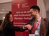 Attendees elbow bump instead of shaking hands during morning session and in light of the COVID-19 health alert